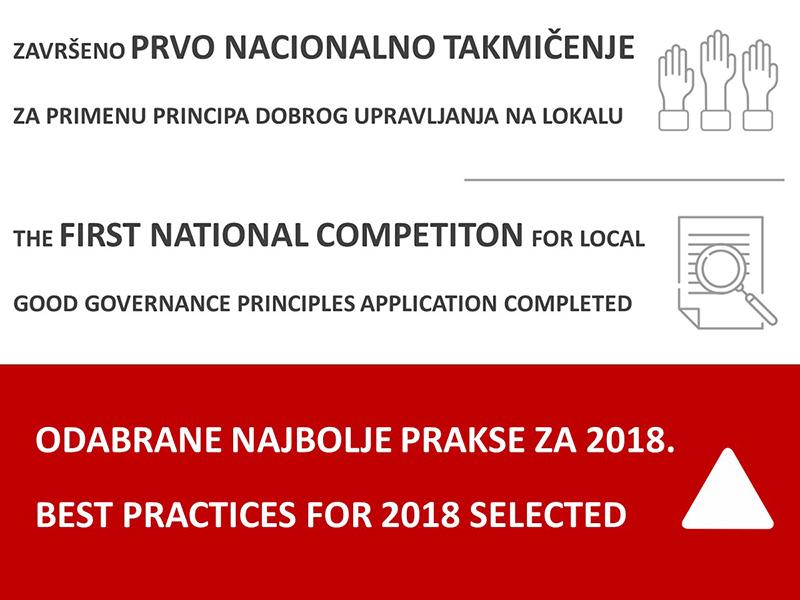 Odabrani primeri najboljih praksi u primeni principa dobre uprave na lokalnom nivou za 2018g