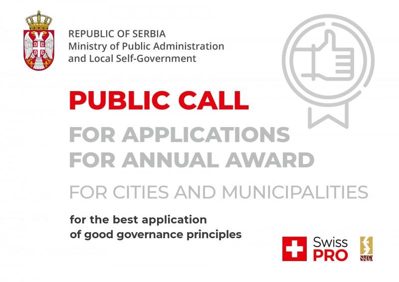 Objavljen poziv za godišnju nagradu za primenu principa dobrog upravljanja
