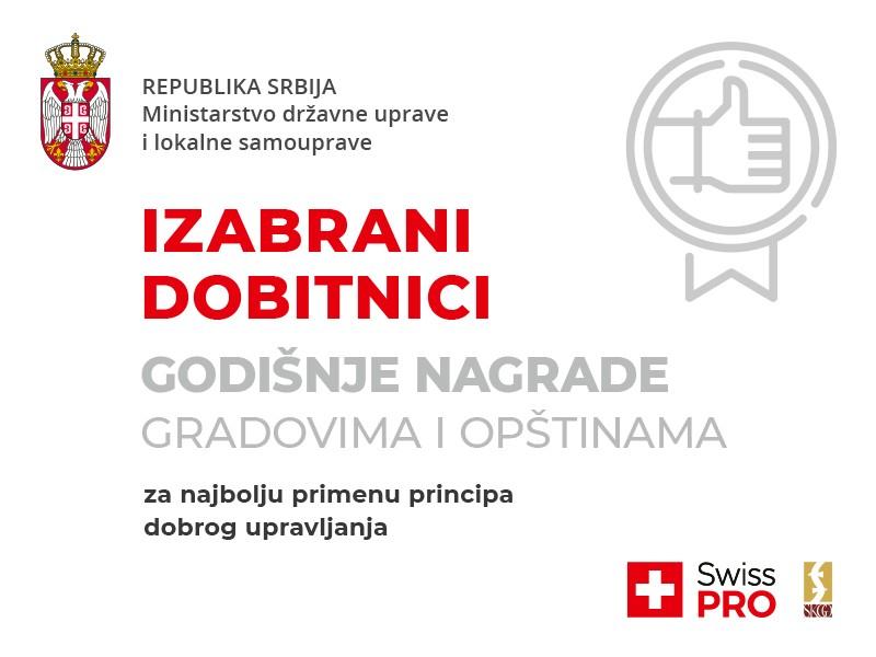 Izabrani najbolji gradovi i opštine u primeni principa dobrog upravljanja u 2019. godini
